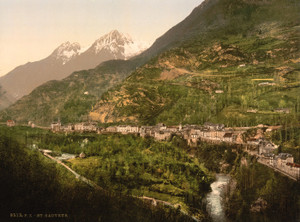 Art Prints of St. Sauveur, Pyrenees, France (387574)
