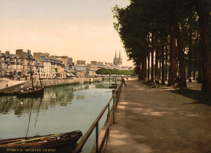 Art Prints of The Quay, Quimper, France (387586)