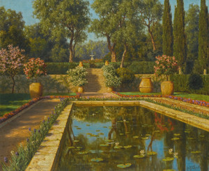 Art Prints of Flower Garden, Nice by Ivan Fedorovich Choultse