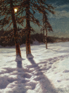 Art Prints of Moonlit Landscape by Ivan Fedorovich Choultse