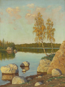 Art Prints of By the Lake 1905 by Ivan Fedorovich Choultse