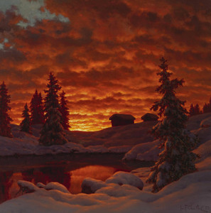 Art Prints of Sunset 1923 by Ivan Fedorovich Choultse