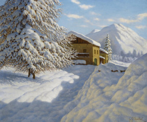 Art Prints of Winter Landscape III by Ivan Fedorovich Choultse