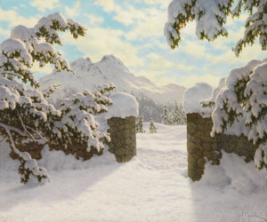 Art Prints of Winter Sun in Switzerland by Ivan Fedorovich Choultse