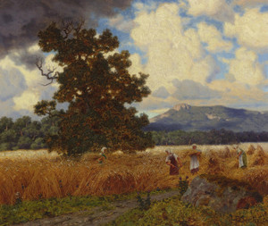 Art Prints of The Harvest 1924 by Ivan Fedorovich Choultse