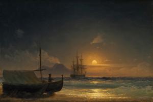 Art Prints of Bay of Naples by Ivan Konstantinovich Aivazovsky