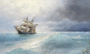 Art Prints of Italian Ship at Sea by Ivan Konstantinovich Aivazovsky