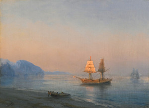 Art Prints of Morning at Yalta by Ivan Konstantinovich Aivazovsky