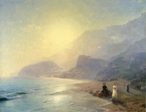 Art Prints of Pushkin and Countess Raevskaya by Ivan Konstantinovich Aivazovsky