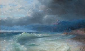 Art Prints of Shipwreck on a Stormy Morning by Ivan Konstantinovich Aivazovsky