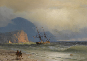 Art Prints of Shipping Off the Ayu-Dag by Ivan Konstantinovich Aivazovsky