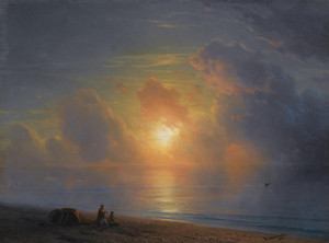 Art Prints of Sunset Over the Crimean Coast by Ivan Konstantinovich Aivazovsky