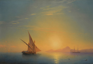 Art Prints of Sunset Over Ischia by Ivan Konstantinovich Aivazovsky