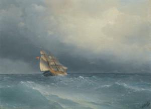 Art Prints of The Lifting Storm by Ivan Konstantinovich Aivazovsky