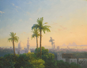 Art Prints of View of Ciaro by Ivan Konstantinovich Aivazovsky