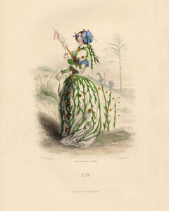 Art Prints of Flax by J. J. Grandville