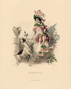 Art Prints of Honey Suckle by J. J. Grandville