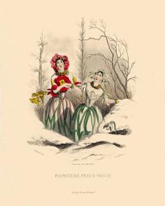 Art Prints of Primrose and Snowdrop by J. J. Grandville