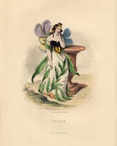 Art Prints of Pansy by J. J. Grandville