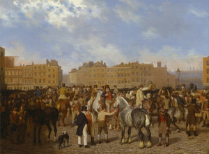 Art Prints of Old Smithfield Market by Jacques-Laurent Agasse