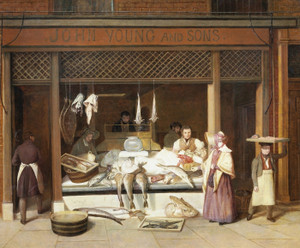 Art Prints of The Fish Shop by Jacques-Laurent Agasse