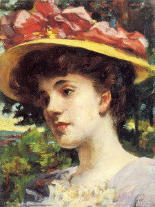 Art Prints of The Straw Hat by James Carroll Beckwith