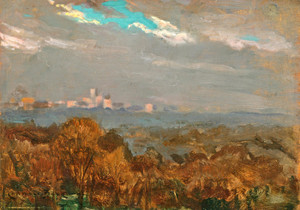 Art Prints of Central Park from My Window after a Rain by James Carroll Beckwith