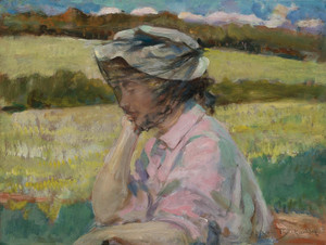 Art Prints of Phoebe at Onteora by James Carroll Beckwith