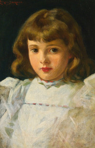 Art Prints of Portrait of a Young Girl by James Carroll Beckwith