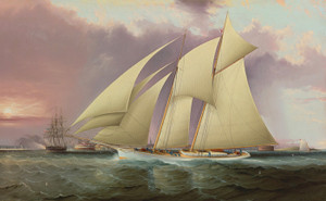 Art Prints of Yacht Magic Defending America's Cup 1870 by James Edward Buttersworth
