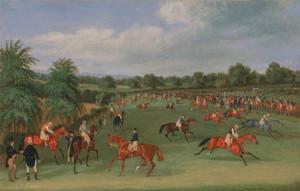 Art Prints of Epsom Races, Preparing to Start by James Pollard
