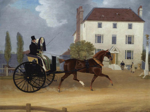 Art Prints of A Carriage Passing the Eagle Pub at Snaresbrook by James Pollard