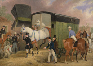 Art Prints of The Derby Pets, the Arrival by James Pollard