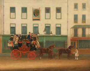 Art Prints of London Manchester Stage Coach the Peveril of the Peak by James Pollard