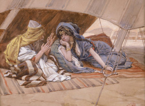 Art Prints of Abrams Counsel to Sarai by James-Jacques-Joseph Tissot