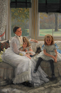 Art Prints of Mrs. Catherine Smith Gill and Children by James-Jacques-Joseph Tissot