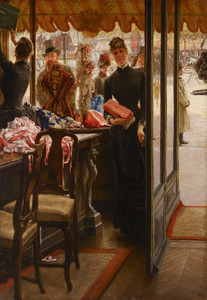 Art Prints of La Demoiselle de Magasin by James-Jacques-Joseph Tissot