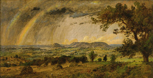 Art Prints of A Passing Shower Over Mountains by Jasper Francis Cropsey