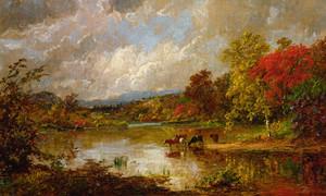 Art Prints of Autumn Landscape II by Jasper Francis Cropsey