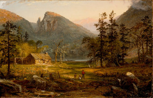 Art Prints of Pioneer's Home, Eagle Cliff, White Mountains by Jasper Francis Cropsey