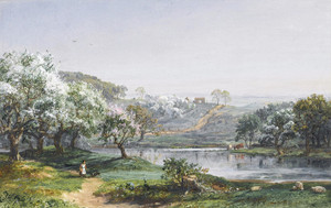 Art Prints of Spring, Chenango, New York by Jasper Francis Cropsey