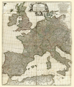 Art Prints of Europe I, 1754 (2603002) by Jean Baptiste Bourguignon Anville