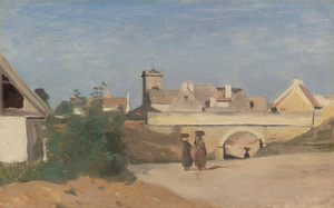 Art Prints of A City Suburb by Camille Corot