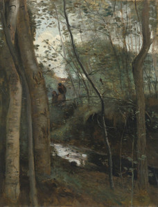 Art Prints of Sous Bois Creek by Camille Corot