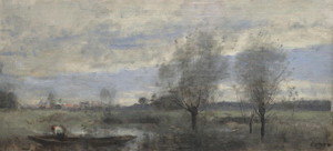 Art Prints of Boater in the Marshes by Camille Corot