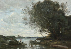 Art Prints of The Boat Loaded with Hay by Camille Corot