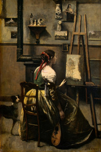 Art Prints of The Artist's Studio by Camille Corot
