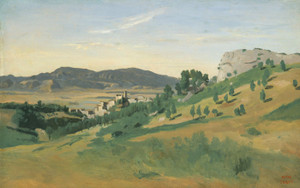 Art Prints of View of Olevano by Camille Corot