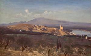 Art Prints of Villeneuve les Avignon by Camille Corot