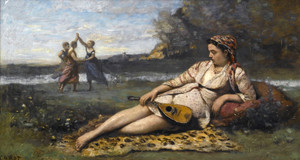 Art Prints of Young Women from Spaaarta by Camille Corot
